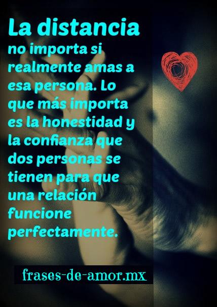la distancia no importa si realmente amas a esa persona