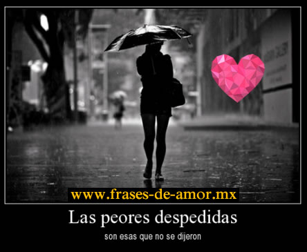 Frases De Despedida De Amor