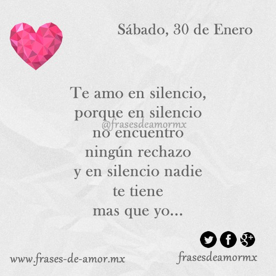 Te amo en silencio for En verdad te amo